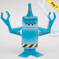 Preview for How to Make an Animated Paper Robot
