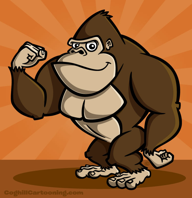 Coghill-Gorilla-cartoon-character